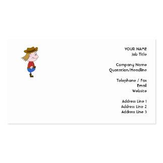 Cowboy illustration business cards