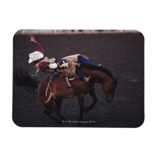 Cowboy in a Rodeo 2 Rectangle Magnet