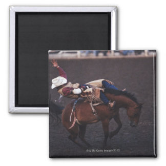 Cowboy in a Rodeo 2 Square Magnet