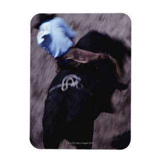 Cowboy in a Rodeo 3 Rectangle Magnet