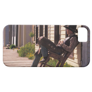 Cowboy in chair on boardwalk in South Park City, Case For The iPhone 5