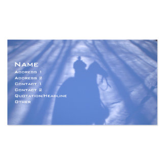 Cowboy in the Snow Double-Sided Standard Business Cards (Pack Of 100)