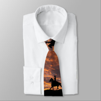 Cowboy in the sunset tie