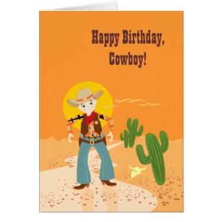 Cowboy kid birthday party greeting card
