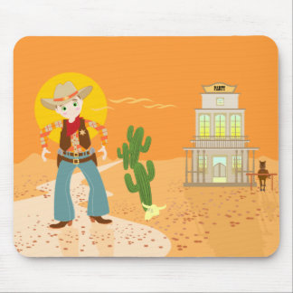 Cowboy kid birthday party mouse pad