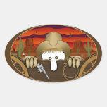 Cowboy Kilroy Oval Sticker