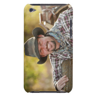 Cowboy leaning on fence barely there iPod cases