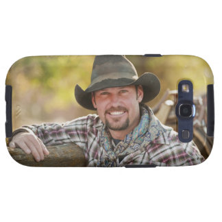 Cowboy leaning on fence galaxy SIII cover