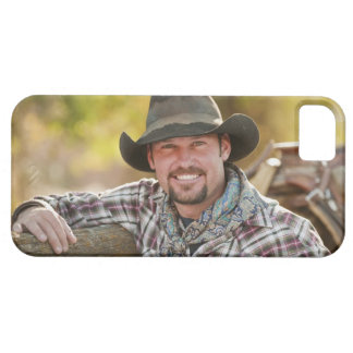 Cowboy leaning on fence iPhone 5 covers