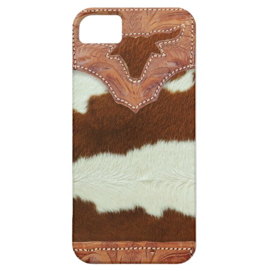 Cowboy Leather and Cowhide Barely There iPhone 5