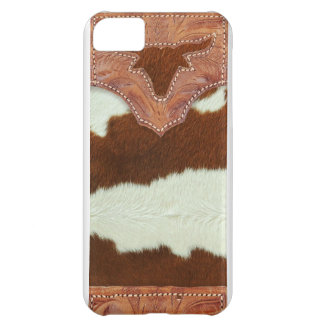 Cowboy Leather and Cowhide iPhone 5C Case