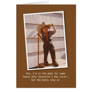 Cowboy Lovin' Valentine Greeting Card