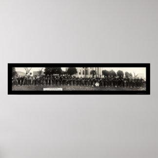 Cowboy Marching Band Photo 1929 Print