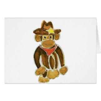 Cowboy Monkey Greeting Card