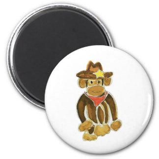 Cowboy Monkey Fridge Magnet
