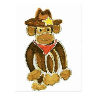 Cowboy Monkey Postcard