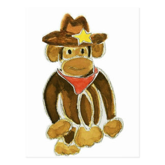 Cowboy Monkey Post Card