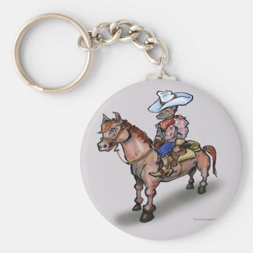 Cowboy n Horse Keychain
