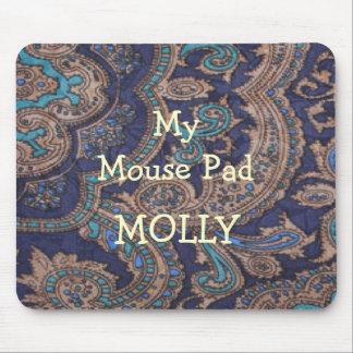 Cowboy Navy Blue Paisley Print Mouse Pad