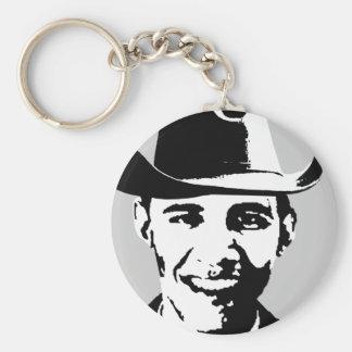 Cowboy Obama Keychain