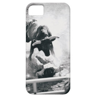 Cowboy on ground after falling off bull iPhone 5 case