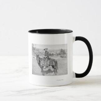 Cowboy on His Horse PhotographSouth Dakota Mug