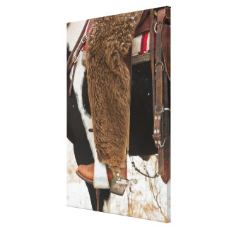 Cowboy on horse canvas print