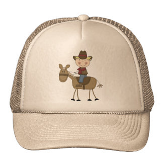 Cowboy on Horse Tshirts and Gifts Mesh Hats