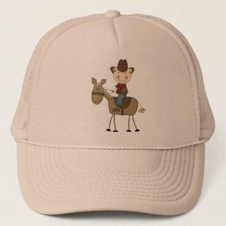Cowboy on Horse Tshirts and Gifts Trucker Hat