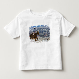 Cowboy on Horse wearing Leather Chaps 2 Toddler T-Shirt