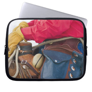 Cowboy on Horse wearing Leather Chaps Laptop Computer Sleeve