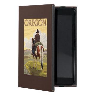 Cowboy on Horseback Vintage Travel Poster Case For iPad Mini