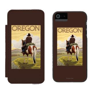 Cowboy on Horseback Vintage Travel Poster Incipio Watson™ iPhone 5 Wallet Case