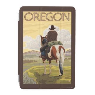 Cowboy on Horseback Vintage Travel Poster iPad Mini Cover
