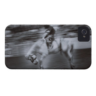 Cowboy on Rodeo Horse iPhone 4 Cases