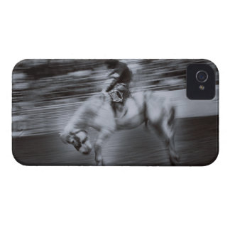 Cowboy on Rodeo Horse iPhone 4 Cover