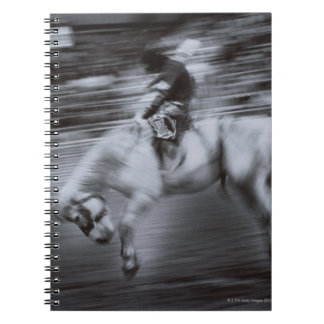 Cowboy on Rodeo Horse Notebook