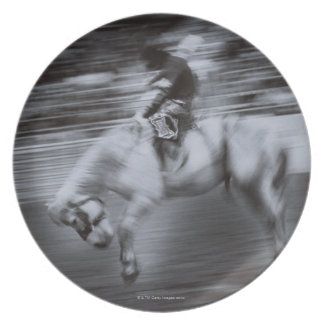 Cowboy on Rodeo Horse Plate