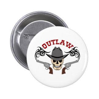 Cowboy Outlaw 6 Cm Round Badge