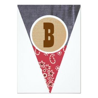 Cowboy Pennant Letter B - Cards