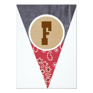 Cowboy Pennant Letter F- Invitations