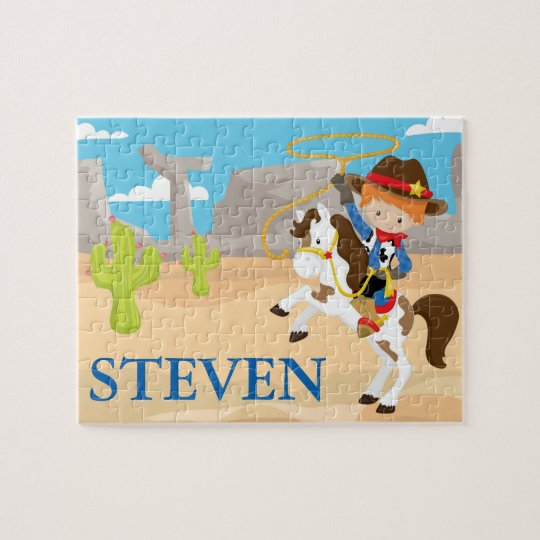 Cowboy Personalised Name Puzzle