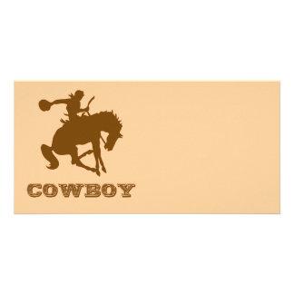 Cowboy Personalised Photo Card