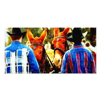 Cowboy Customized Photo Card