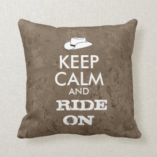 Cowboy Pillow Keep Calm and Ride On Cowboy Hat