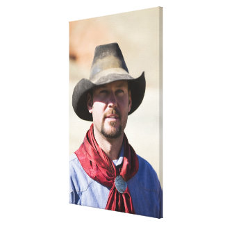Cowboy portrait canvas print