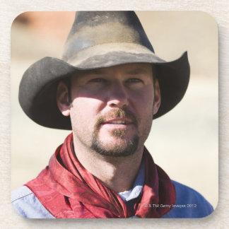Cowboy portrait coaster