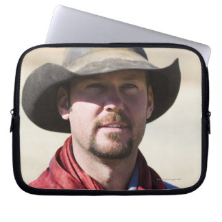 Cowboy portrait laptop sleeve