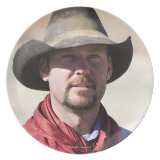 Cowboy portrait plate