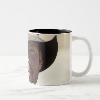 Cowboy portrait Two-Tone coffee mug